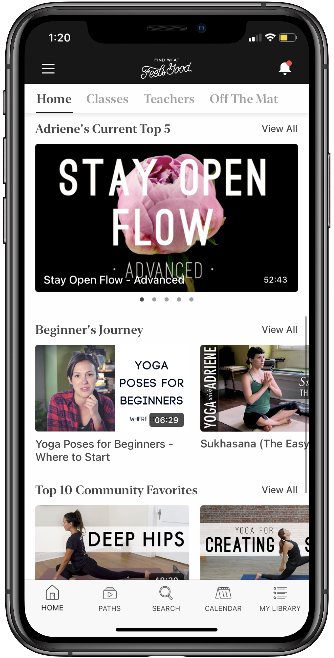 Yoga With Adriene Screenshot